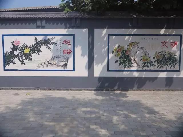 兴平创建文明城市公益广告展示----墙体手绘广告